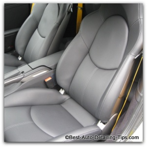 new car leather cleaning conditioning
