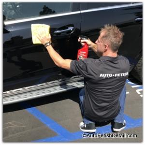 applying mothers car wax