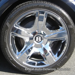 bentley chrome wheel