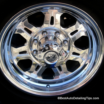 billet aluminum wheel after alloy wheel cleaning