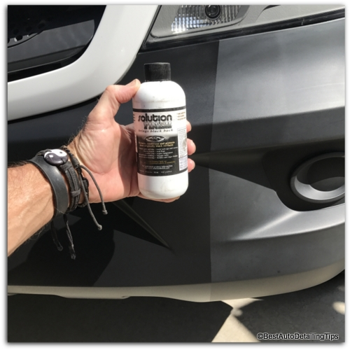 Cleaning restoring black car trim tips using secrets from the professionals Black interior car trim restorer