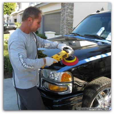 buffing car paint dewalt buffer