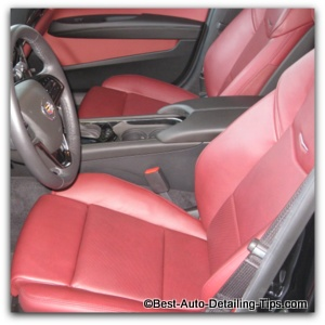 cadillac semi aniline car leather