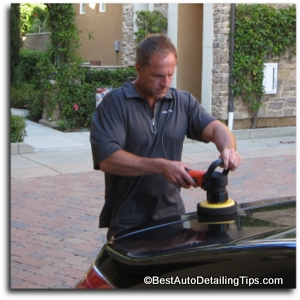 car polishing with da car buffer