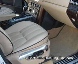 By keeping up on your cars upholstery and interior from the