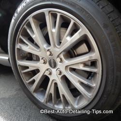 car wheel cleaner before
