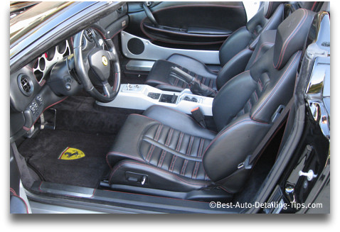 ferarri car upholstery cleaning tips