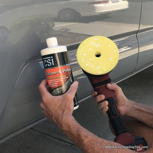 ceram X car polish to remove swirl marks and scratches