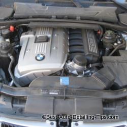 clean car engine before