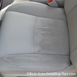clean leather car seat