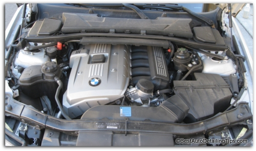 Cleaning car engine