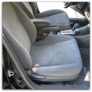 clean car upholstery: Easier than you have been told or think.