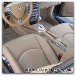cleaning leather car seats porsche