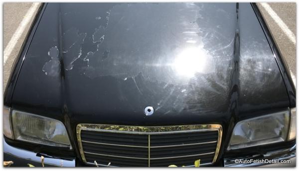 clear coat failure on Mercedes