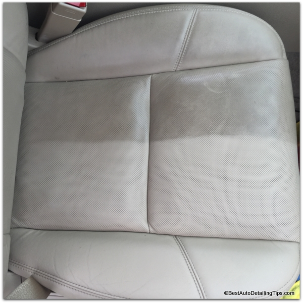 dirty car leather before and after