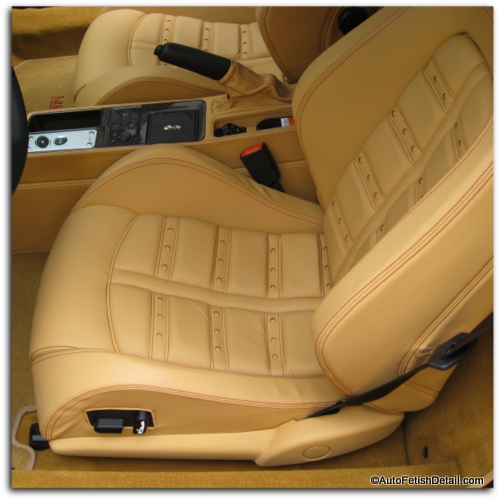 Ferrari leather car seat cleaning
