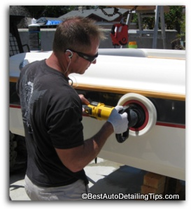gelcaot boat polishing