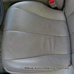 leather car seat cleaning before