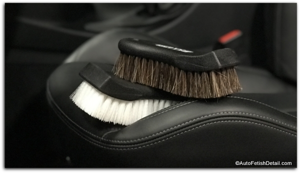 leather car seat cleaning brushes