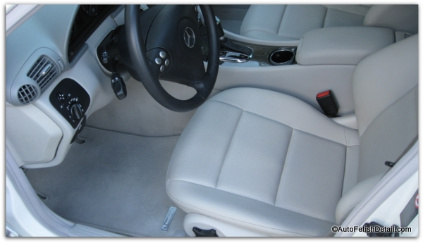 leather car seat cleaning mbz c class