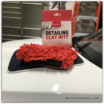 maxshine clay bar a car mitt