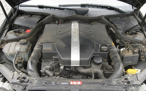 mercedes benz car engine degreaser before and after