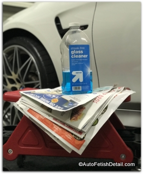 newspaper to clean windows