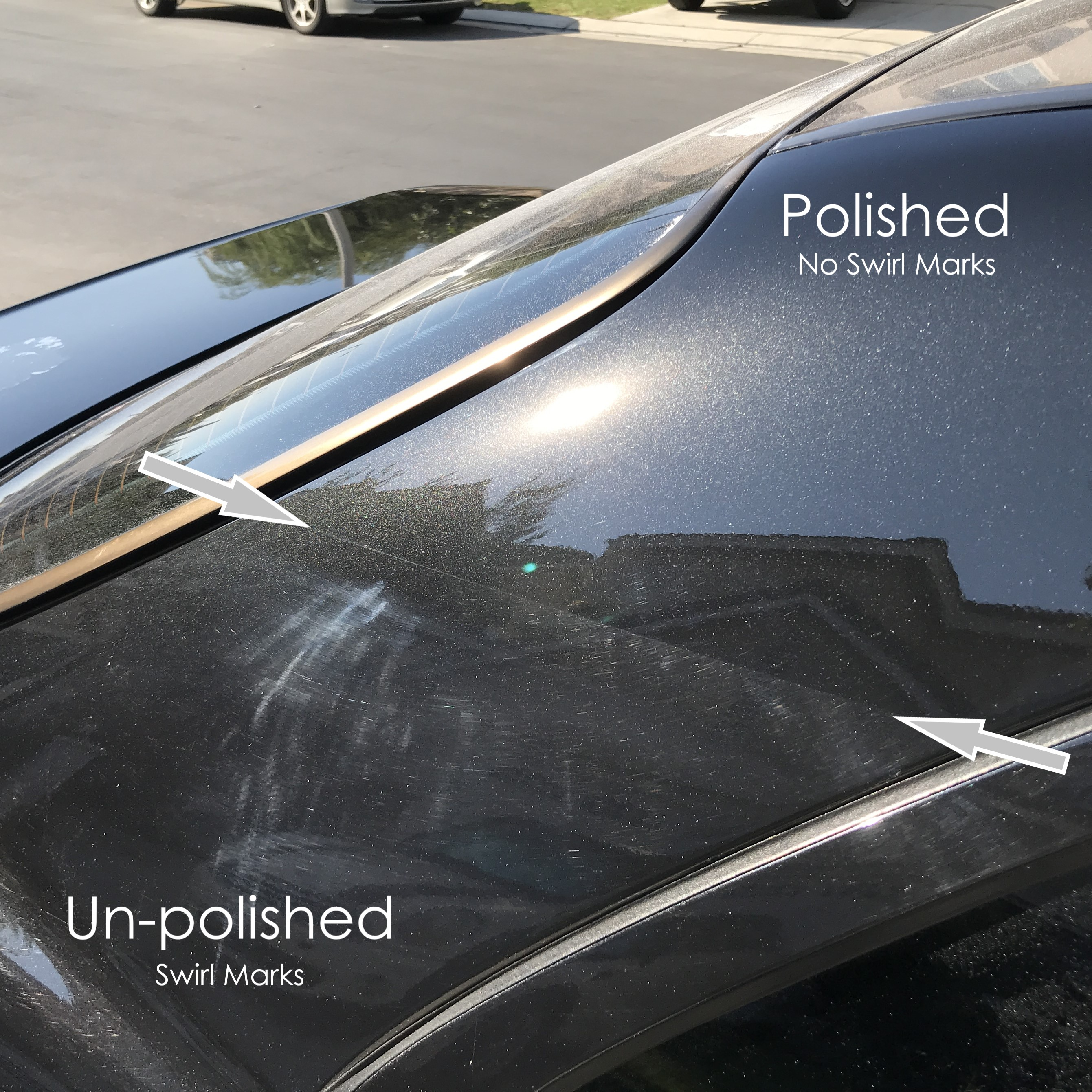 polishing paint to remove swirl marks on car