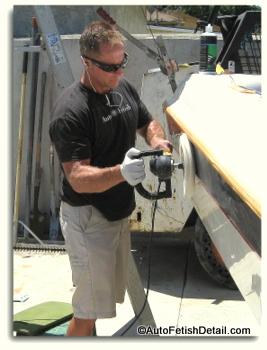polishing with boat polishing compound