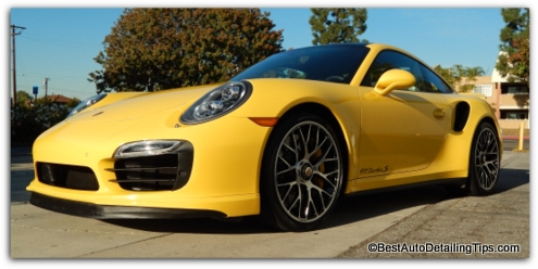 professional car wax porsche