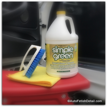 Simple Green industrial cleaner degreaser used with steam cleaner