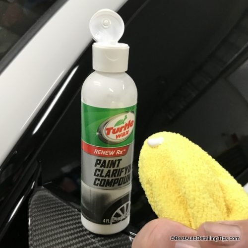 Turtle Wax clear coat scratch remover