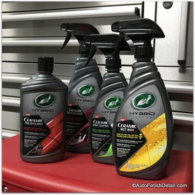 turtle wax hybrid car waxes