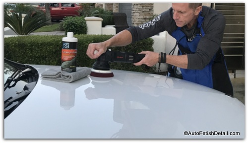 using random orbital buffer to restore car paint