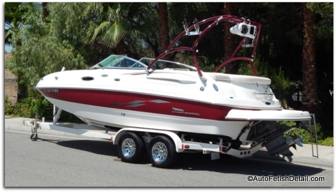 waxing chaparral boat