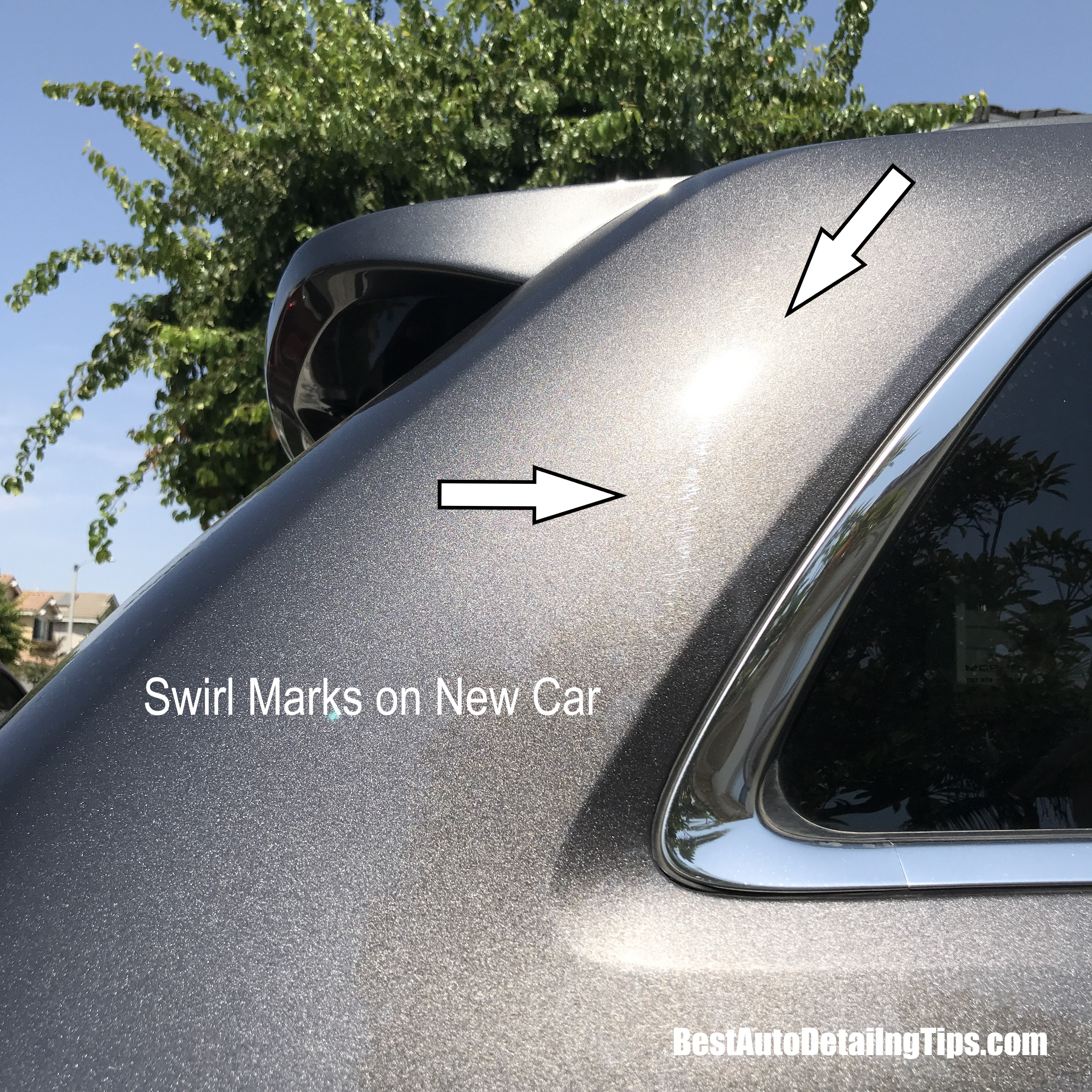 what are swirl marks on new car