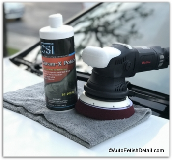 auto buffers with ceram-x car polish