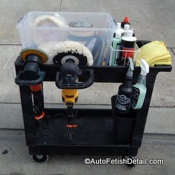auto detailing cart caddy