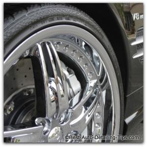 automotive wheel cleaner chrome wheel