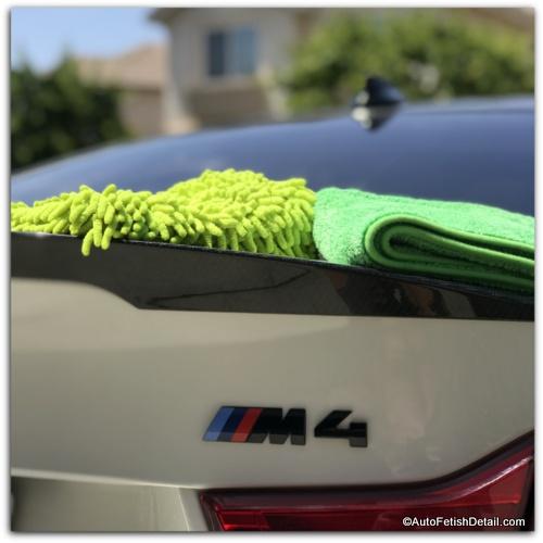 best way to clean BMW M4 car