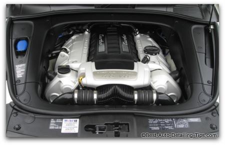 car engine picture porsche cayenne turbo