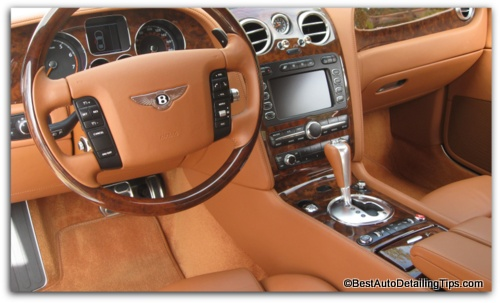 car interior dressing bentley