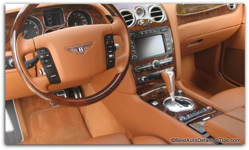 car interior dressing bentley
