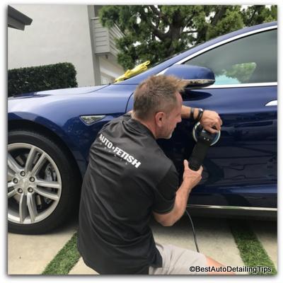 car polishing with rupes bigfoot