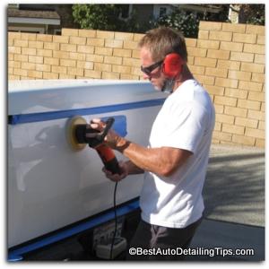 car polishing with griots garage car buffer