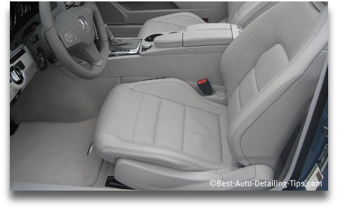 mercedes clean leather car seat