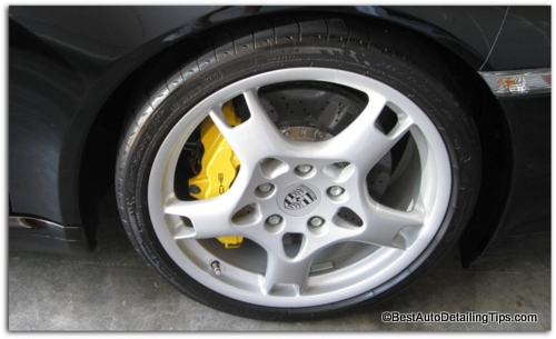 cleaning alloy wheels porsche