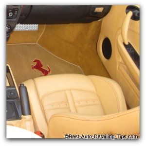 cleaning leather car seats ferrari