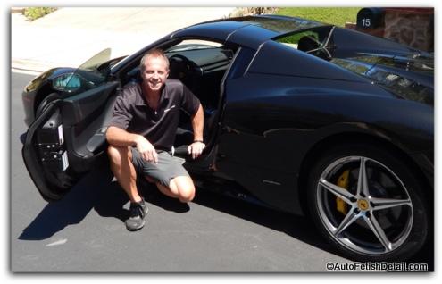 darren priest next to Ferrari