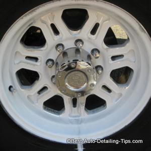 etching aluminum wheel during